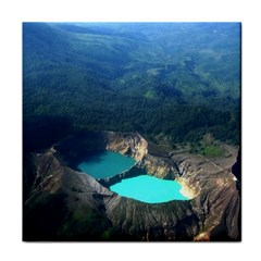 Kelimutu Crater Lakes  Indonesia Face Towel by Nexatart