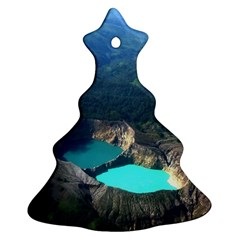 Kelimutu Crater Lakes  Indonesia Christmas Tree Ornament (two Sides) by Nexatart