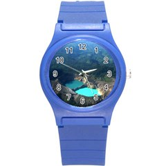 Kelimutu Crater Lakes  Indonesia Round Plastic Sport Watch (s) by Nexatart