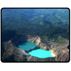 Kelimutu Crater Lakes  Indonesia Double Sided Fleece Blanket (medium)  by Nexatart
