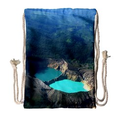 Kelimutu Crater Lakes  Indonesia Drawstring Bag (large) by Nexatart