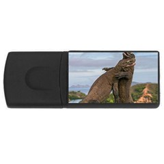 Komodo Dragons Fight Rectangular Usb Flash Drive by Nexatart