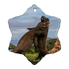 Komodo Dragons Fight Ornament (snowflake)