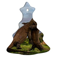 Komodo Dragons Fight Christmas Tree Ornament (two Sides)