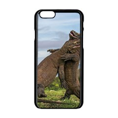 Komodo Dragons Fight Apple Iphone 6/6s Black Enamel Case by Nexatart