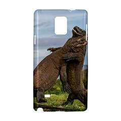 Komodo Dragons Fight Samsung Galaxy Note 4 Hardshell Case by Nexatart