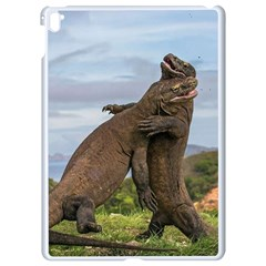Komodo Dragons Fight Apple Ipad Pro 9 7   White Seamless Case by Nexatart