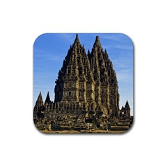 Prambanan Temple Rubber Square Coaster (4 Pack)