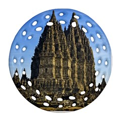 Prambanan Temple Round Filigree Ornament (two Sides)