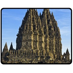 Prambanan Temple Double Sided Fleece Blanket (medium)  by Nexatart