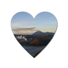 Sunrise Mount Bromo Tengger Semeru National Park  Indonesia Heart Magnet by Nexatart
