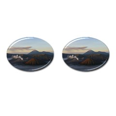 Sunrise Mount Bromo Tengger Semeru National Park  Indonesia Cufflinks (oval)