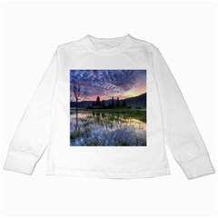 Tamblingan Morning Reflection Tamblingan Lake Bali  Indonesia Kids Long Sleeve T-shirts