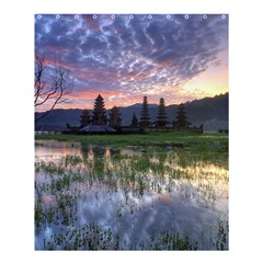 Tamblingan Morning Reflection Tamblingan Lake Bali  Indonesia Shower Curtain 60  X 72  (medium)  by Nexatart