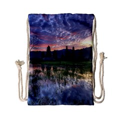 Tamblingan Morning Reflection Tamblingan Lake Bali  Indonesia Drawstring Bag (small) by Nexatart