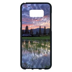 Tamblingan Morning Reflection Tamblingan Lake Bali  Indonesia Samsung Galaxy S8 Plus Black Seamless Case by Nexatart