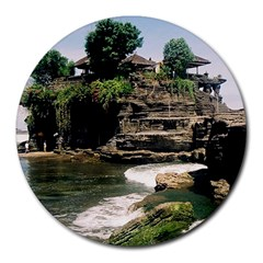 Tanah Lot Bali Indonesia Round Mousepads