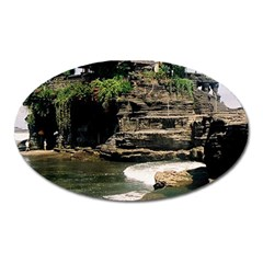 Tanah Lot Bali Indonesia Oval Magnet by Nexatart