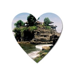 Tanah Lot Bali Indonesia Heart Magnet by Nexatart