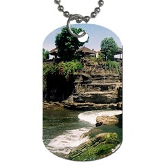 Tanah Lot Bali Indonesia Dog Tag (two Sides) by Nexatart