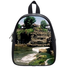 Tanah Lot Bali Indonesia School Bag (small) by Nexatart