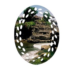 Tanah Lot Bali Indonesia Ornament (oval Filigree)