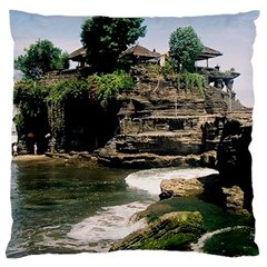 Tanah Lot Bali Indonesia Large Cushion Case (two Sides) by Nexatart