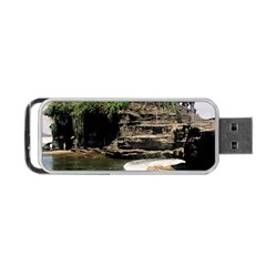 Tanah Lot Bali Indonesia Portable Usb Flash (two Sides) by Nexatart