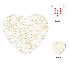 Small Floral Flowers Pattern  Playing Cards (heart)  by paulaoliveiradesign