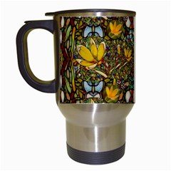 Fantasy Forest And Fantasy Plumeria In Peace Travel Mugs (white) by pepitasart