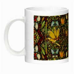 Fantasy Forest And Fantasy Plumeria In Peace Night Luminous Mugs by pepitasart