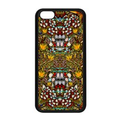 Fantasy Forest And Fantasy Plumeria In Peace Apple Iphone 5c Seamless Case (black) by pepitasart