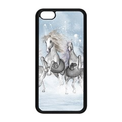 Awesome Running Horses In The Snow Apple Iphone 5c Seamless Case (black) by FantasyWorld7