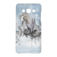 Awesome Running Horses In The Snow Samsung Galaxy A5 Hardshell Case