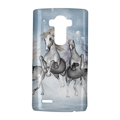Awesome Running Horses In The Snow Lg G4 Hardshell Case by FantasyWorld7