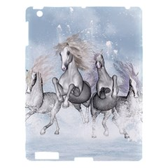 Awesome Running Horses In The Snow Apple Ipad 3/4 Hardshell Case by FantasyWorld7