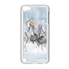 Awesome Running Horses In The Snow Apple Ipod Touch 5 Case (white) by FantasyWorld7