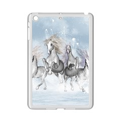 Awesome Running Horses In The Snow Ipad Mini 2 Enamel Coated Cases by FantasyWorld7