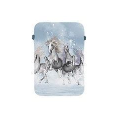 Awesome Running Horses In The Snow Apple Ipad Mini Protective Soft Cases by FantasyWorld7