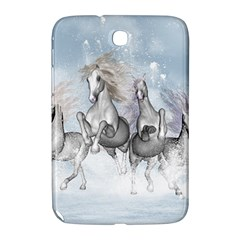 Awesome Running Horses In The Snow Samsung Galaxy Note 8 0 N5100 Hardshell Case  by FantasyWorld7