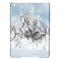 Awesome Running Horses In The Snow Ipad Air Hardshell Cases by FantasyWorld7