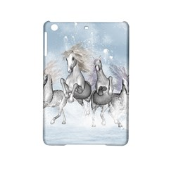 Awesome Running Horses In The Snow Ipad Mini 2 Hardshell Cases by FantasyWorld7