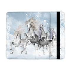 Awesome Running Horses In The Snow Samsung Galaxy Tab Pro 8 4  Flip Case by FantasyWorld7