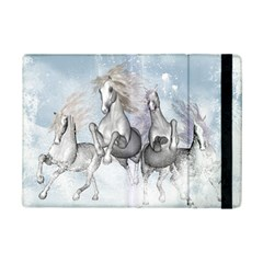Awesome Running Horses In The Snow Ipad Mini 2 Flip Cases by FantasyWorld7