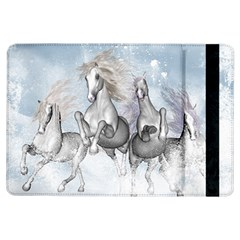 Awesome Running Horses In The Snow Ipad Air Flip by FantasyWorld7