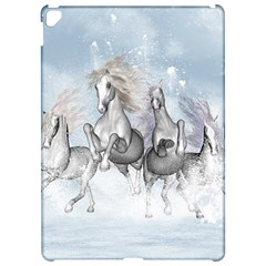 Awesome Running Horses In The Snow Apple Ipad Pro 12 9   Hardshell Case by FantasyWorld7