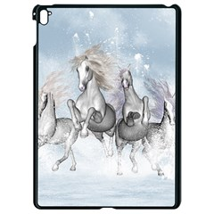 Awesome Running Horses In The Snow Apple Ipad Pro 9 7   Black Seamless Case by FantasyWorld7