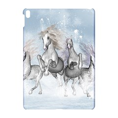 Awesome Running Horses In The Snow Apple Ipad Pro 10 5   Hardshell Case