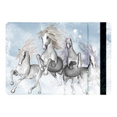 Awesome Running Horses In The Snow Apple Ipad Pro 10 5   Flip Case