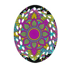 Zeller Oval Filigree Ornament (two Sides) by ChosenOne